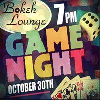 Bokeh Lounge Presents Game Night The BOKEH Way