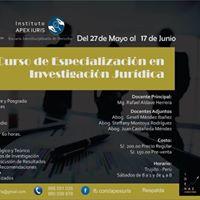 I Curso de Especializacin en Investigacin Jurdica