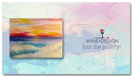 Sip Paint Sunrise Breakers At Wine Design Clayton Nc Carolina