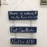 Home is Where the Military Takes us painting class