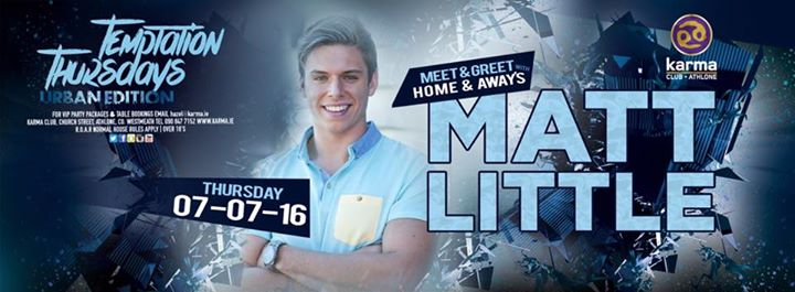 Home and away star matt little comes to karma athlone at karma home and away star matt little comes to karma athlone at karma athlone athlone m4hsunfo