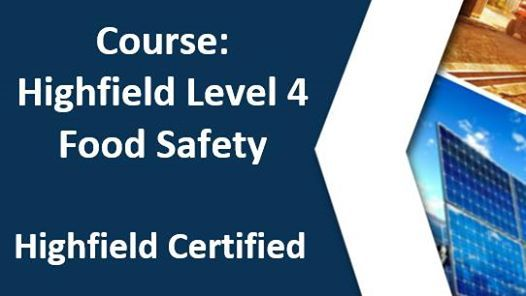 HABC (Food Safety) - Highfield Level 4