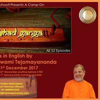 Upanishad Ganga Camp in English by Pujya Swami Tejomayananda