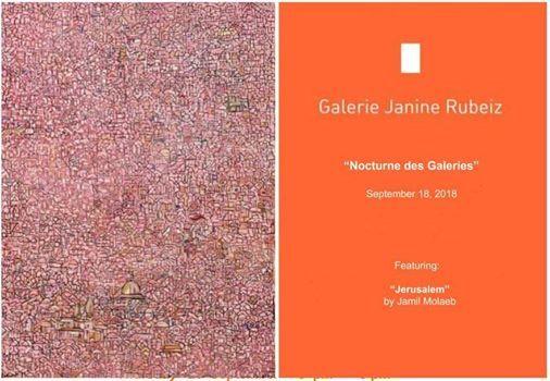 Nocturne des galeries at Galerie Janine Rubeiz