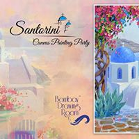 Shimmering Santorini - Canvas Painting Party