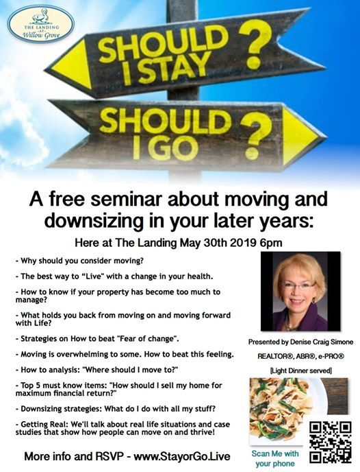 Stay or Go? - A Free seminar about Senior downsizing at The Landing