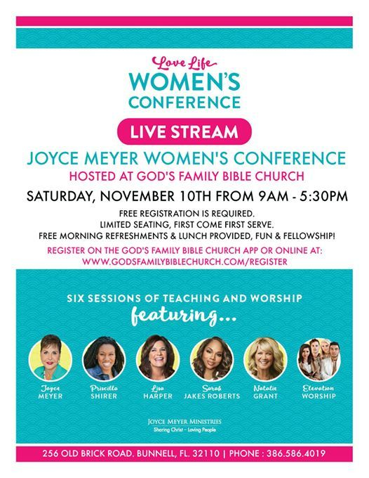 Joyce Meyer Love Life Womens Conference Live Stream at God's
