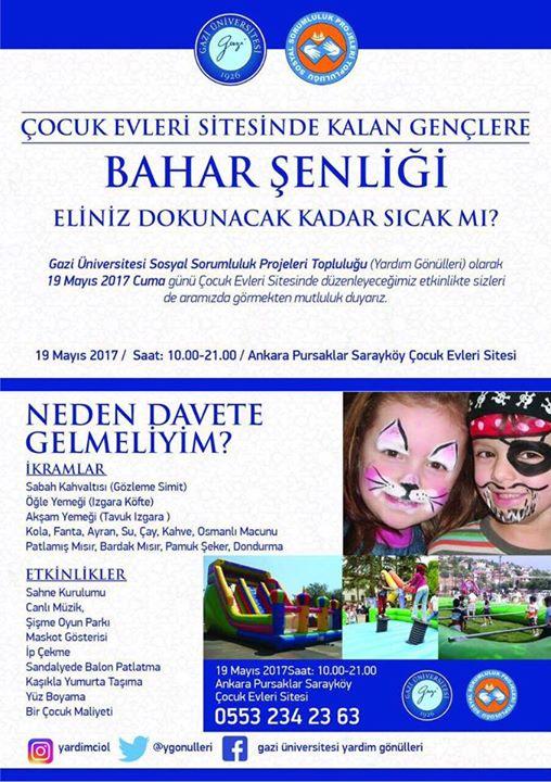 19 Mayıs çocuk Evleri Sitesinde Bahar şenliği At Ankara Turkey