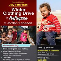Winter Clothing Drive for Refugees