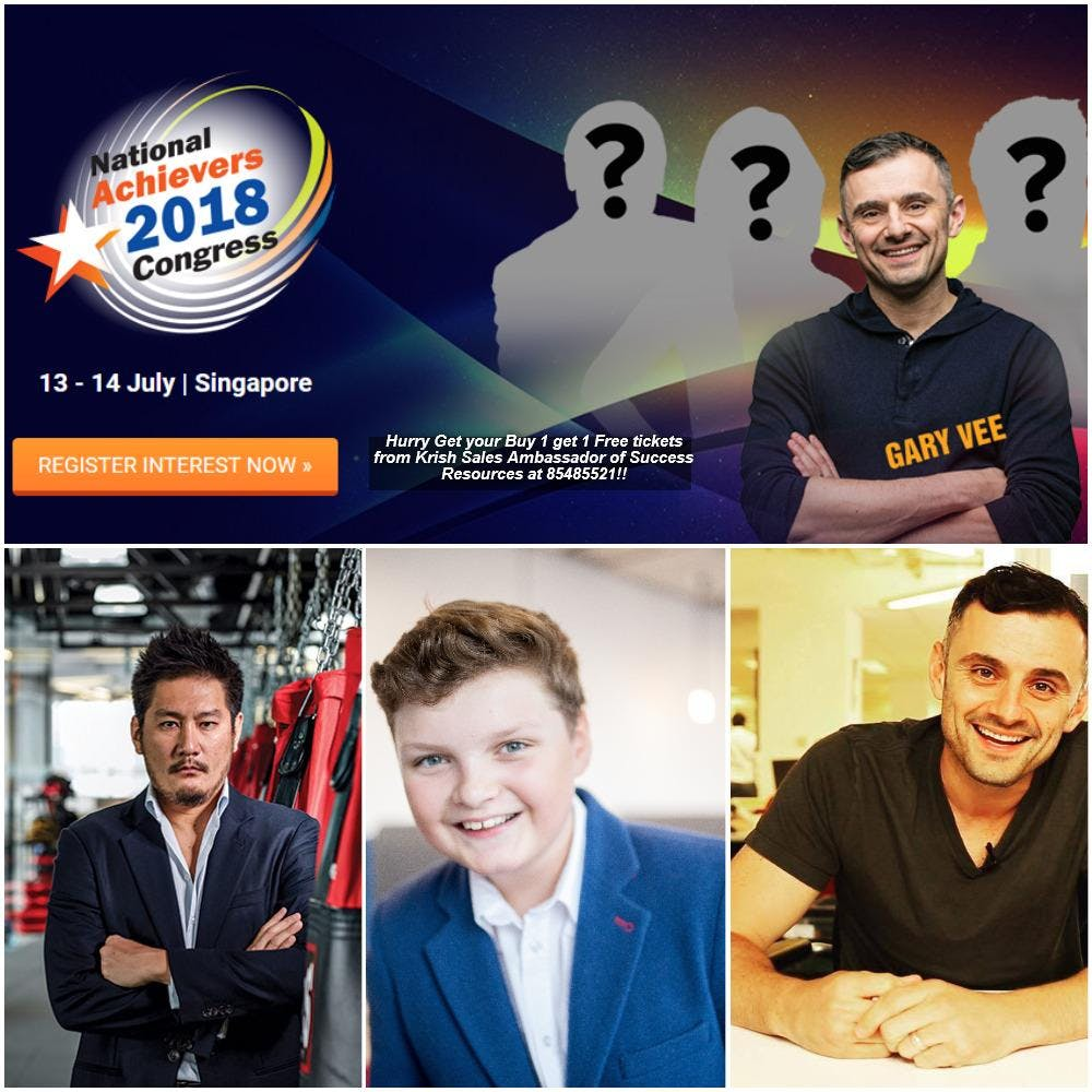 National Achievers Congress 2018 Singapore Buy 1 get 1 free