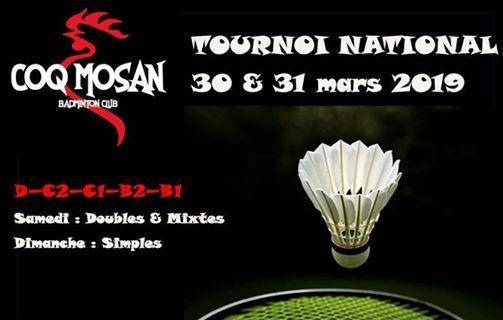 Tournoi National COQ MOSAN 30-31 mars