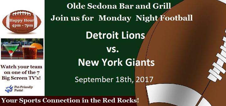 NFL Monday Night Football in Sedona AZ