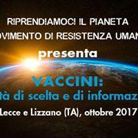 Vaccini Libert di scelta e di informazione  Lecce e Lizzano