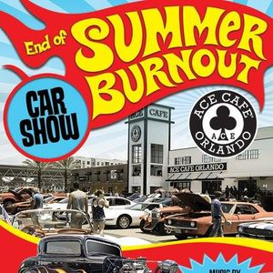 End Of Summer Burnout Car Show At Ace Cafe Orlando Florida - Car show in orlando this weekend