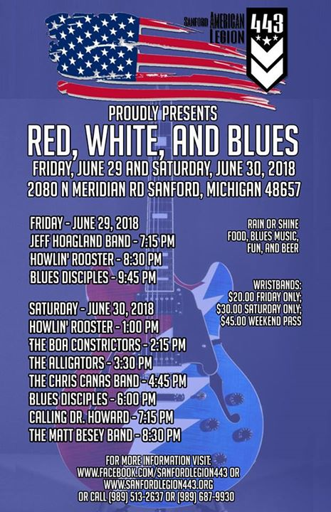 Red White And Blues Festival At American Legion Riders Sanford Mi