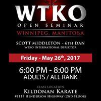WTKO Canada Open Seminar
