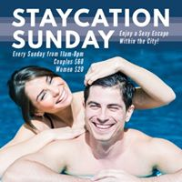 11am-7pm Staycation Sunday Closing at 7PM for the Holidays