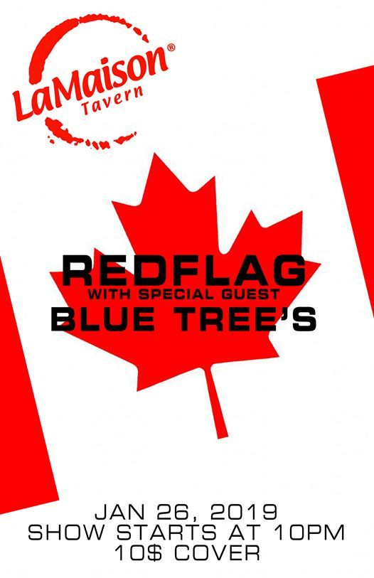 Redflag And Blue Trees