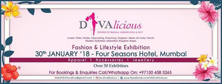 DIVAlicious Fashion Exhibition 30 January - Mumbai