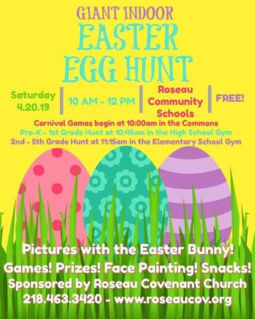 Easter Egg Hunt at Roseau School, Roseau