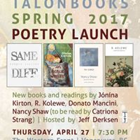 Talonbooks Spring 2017 Poetry Launch