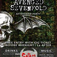 Avenged Sevenfold  Disturbed - Afterparty - Monday 16th January