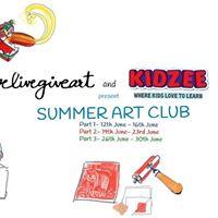 Summer Art Club- Lovelivegiveart &amp Kidzee Sarvodaya Enclave