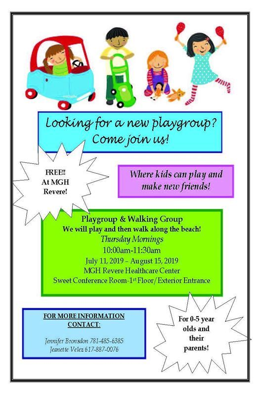 Playgroup & Walking Group at Mgh Revere, Revere