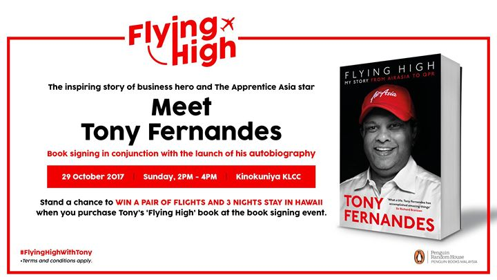 Flying High: Book Signing with Tony Fernandes at Books