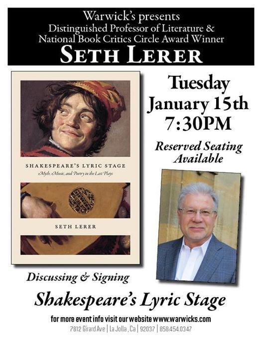 Seth Lerer - Shakespeares Lyric Stage