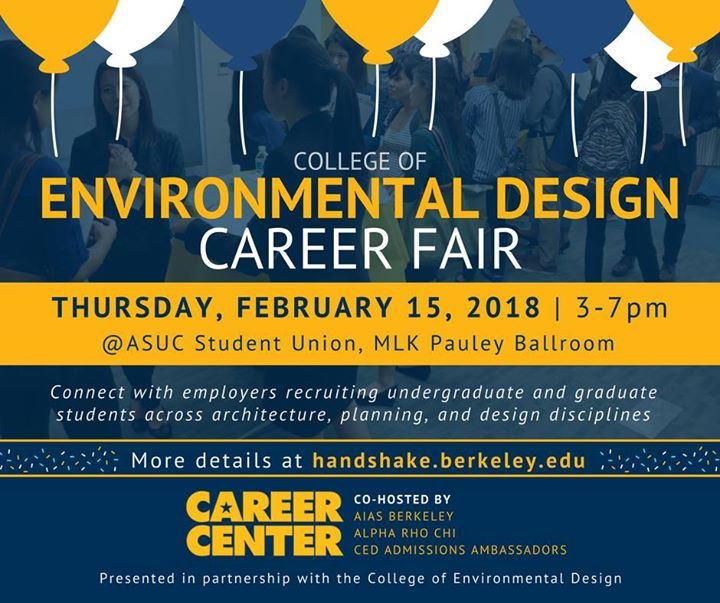 UC Berkeley Environmental Design CED Career Fair at Pauley
