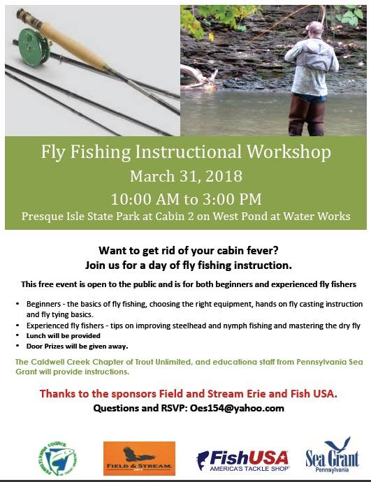 Fly Fishing Instructional Workshop At Presque Isle State Park Erie