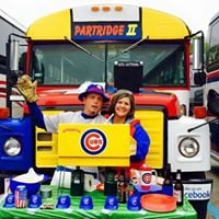 Cubs at Brewers wPartridge Family Party Bus and Tailgate