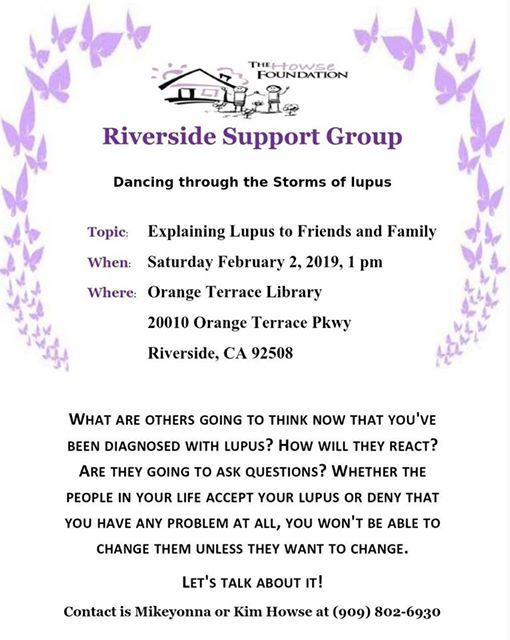 Riverside lupus Support Group at Orange Terrace Library20010 Orange
