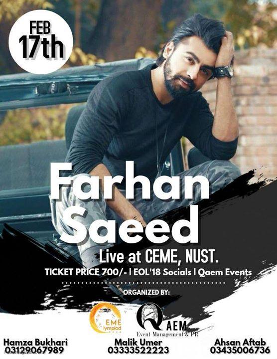 Farhan Saeed live at Nust CEME - ISB - RWP | Rawalpindi