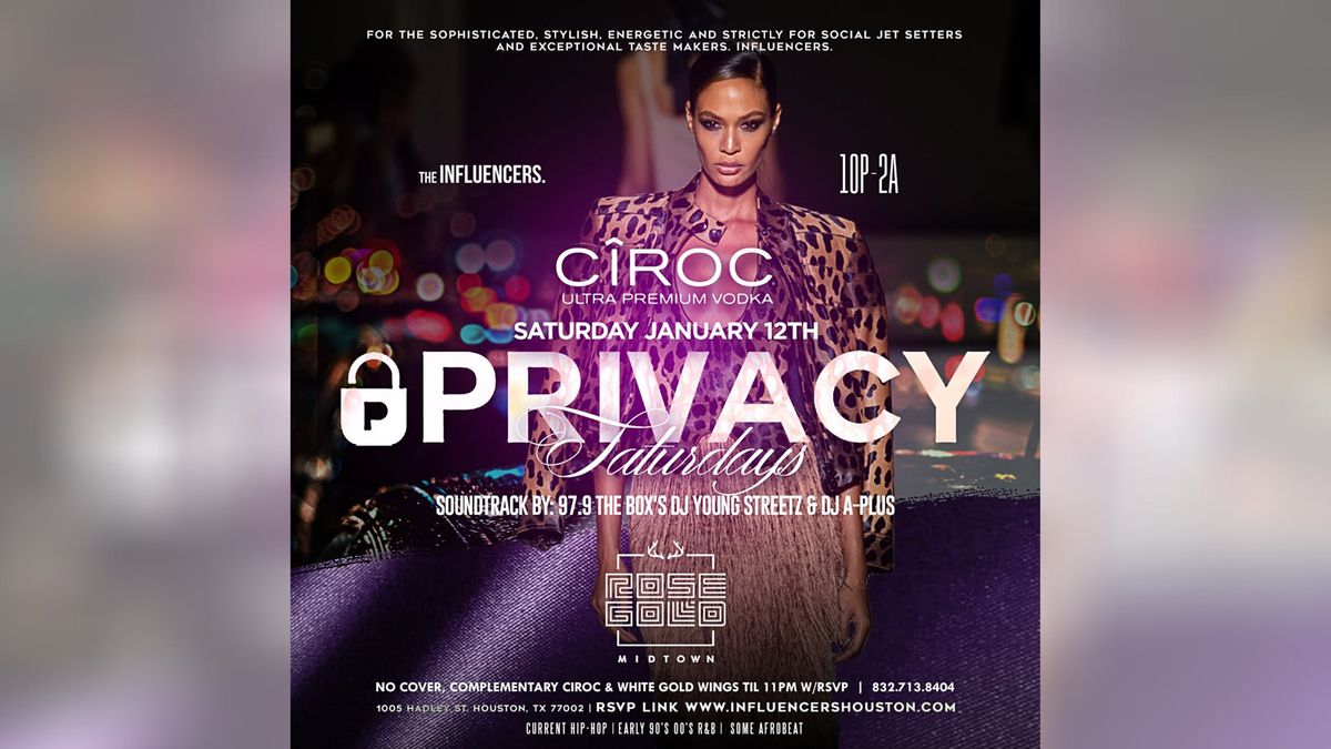 Rose Gold Saturdays - FREE ENTRY CIROC & WINGS TIL 11 WRSVP - Best Saturday NightClubParty