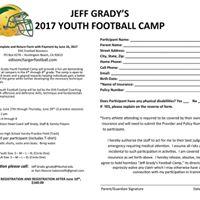 Jeff Gradys Youth Football Camp