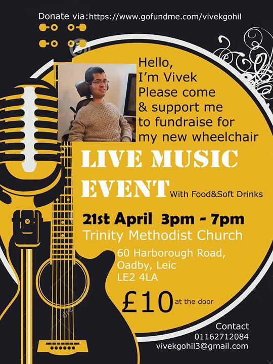 Live Music Fundraiser at Oadby Trinity Methodist Church