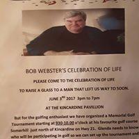 CELEBRATION OF LIFE FOR BOB WEBSTER