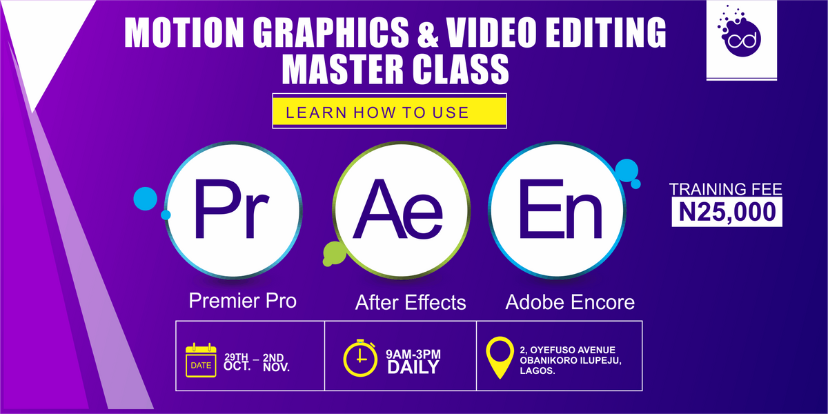 MOTION GRAPHICS AND VIDEO EDITING MASTER CLASS at Creative Dept