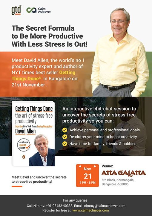 Meet David Allen author of book Getting Things Done