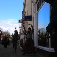 Dances on Street Corners a performance on some local street corners by Virginia Farman