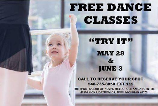 Free DANCE Classes TRY IT