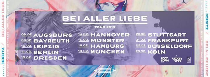 2ersitz  Bei Aller Liebe  Tour 2019  Stuttgart (VERSCHOBEN)