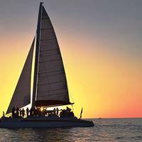Season Sunset aboard the Sweet Liberty Catamaran