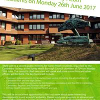 Surrey Heath Residents Meeting 26th June at 7pm