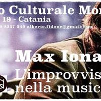 Masterclass Max Ionata limprovvisazione nella Musica Moderna
