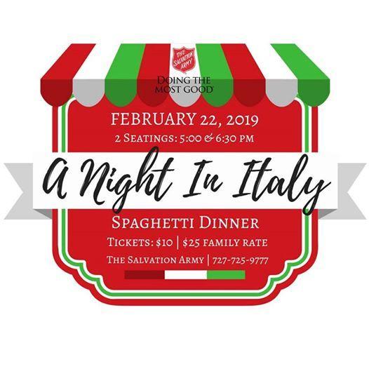 Night In Italy Spaghetti Dinner