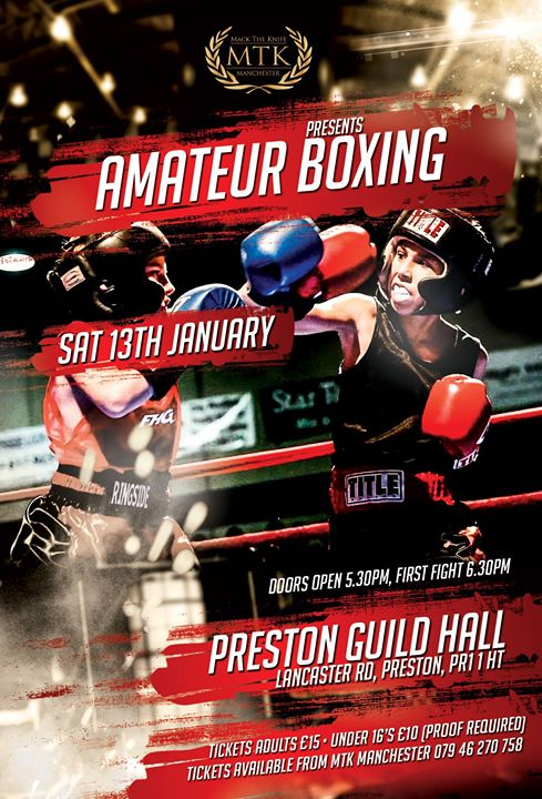 MTK Manchesters Amateur Boxing at Preston Guild Hall, Preston