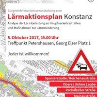 Vorstellung und Diskussion des Lrmaktionsplans fr Konstanz
